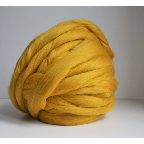 Mustard Chunky Merino Yarn, Giant Yarn, Merino Wool, Arm Knitting Yarn, Giant Knitting, DIY Arm Knit Blanket, Arm Knit, Super chunky Wool - King & Eye