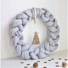 Load image into Gallery viewer, Chunky Knit Nordic Style Wreath-Holiday Decor-King & Eye
