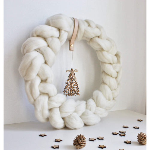 Nordic Scandinavian Style Christmas Wreath-Holiday Decor-King & Eye