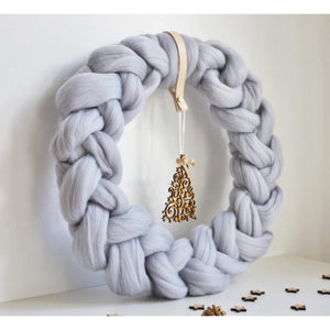 Chunky Knit Nordic Style Wreath-Holiday Decor-King & Eye