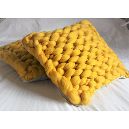 Knitted Merino Pillow-Cushions & Pillows-King & Eye