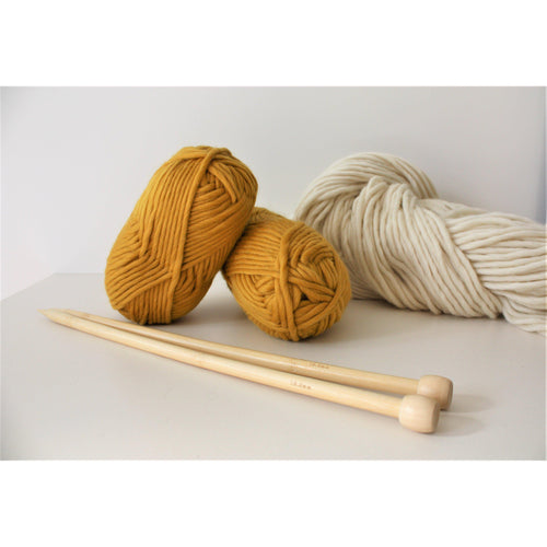 Mustard Merino Wool Super Chunky Knitting Yarn - King & Eye
