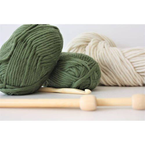Super Chunky Pure Merino Wool Knitting Yarn - King & Eye
