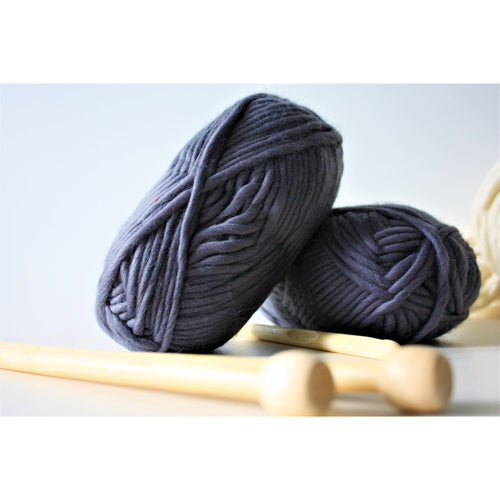 Grey Super Bulky Chunky Merino Yarn Super Bulky Yarn King and Eye
