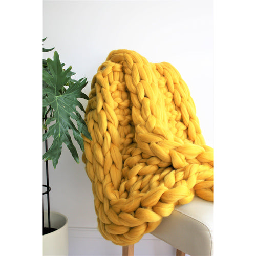 Chunky Knit Giant Merino Throw-Chunky Knit Blankets-King & Eye