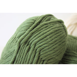 Super Chunky Pure Merino Wool Knitting Yarn Olive Green Super Bulky Yarn King and Eye