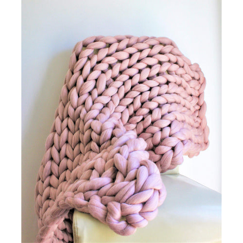 Chunky Arm Knit Blanket - 100% Pure Merino-Chunky Knit Blankets-King & Eye