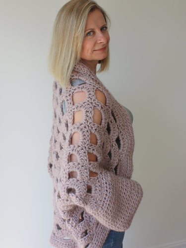 Crochet Sweater Pattern, Cocoon Shrug Pattern, Chunky Crochet Sweater, Crochet Top, Crochet Cardigan, Cape Pattern, Crochet Poncho