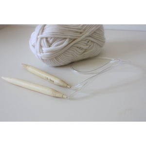Circular Knitting Needles 12mm for Size 6 Super Bulky Yarn-Needles & Hooks-King & Eye