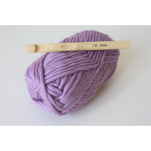 Super Chunky Merino Thick Knitting Yarn Super Bulky Yarn Lilac lavender King and Eye