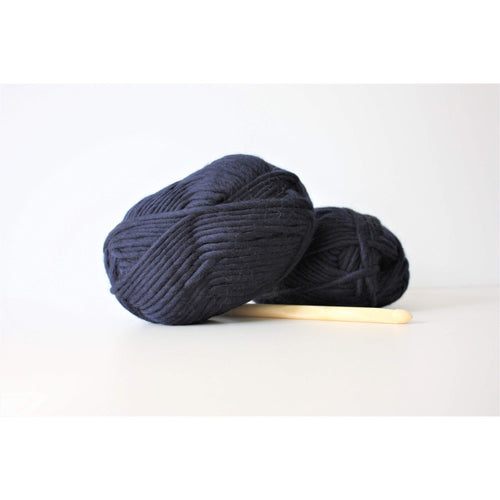 Super Bulky Merino Yarn Super Bulky Yarn Navy King and Eye
