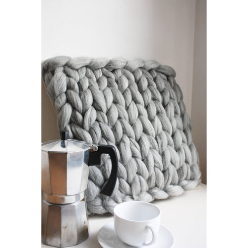 Farmhouse Style Chunky Knit Cushion-Cushions & Pillows-King & Eye