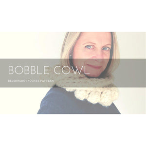 Crochet Pattern - Chunky Bobble Infinity Scarf (Easy For Beginners)-Patterns & Kits-King & Eye