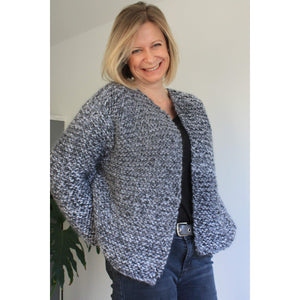 Knitting Pattern - Easy Chunky Knit 3 in 1 Sweater/Cardigan - King & Eye