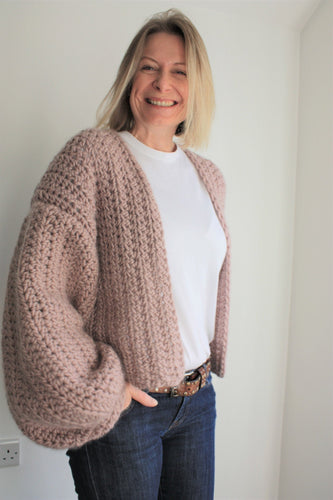 Crochet Kit, Beginners Crochet Kit, Chunky Crochet Cardigan Kit, Easy Crochet Kit, Crochet Kit With Yarn, Crochet Kit UK