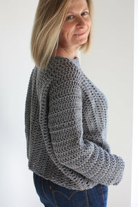 Crochet pattern, Easy Crochet Sweater, Beginner Crochet Pattern, Oversized Sweater For Women, Summer Sweater Crochet Tutorial