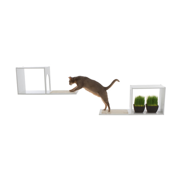 The Sophia Wall Mounted Cat Tree in White
