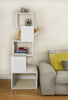 Sebastian Freestanding Modern Cat Tree in White - Lifestyle Setting