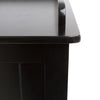 Close up of the finish of Hadley Storage Chest in Black