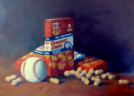 Cracker jacks baseball painting