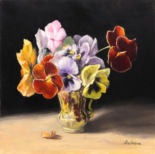 Pansies In A Cup - Irina Furman