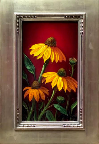 Golden Echinacea by artist Sean Farrell