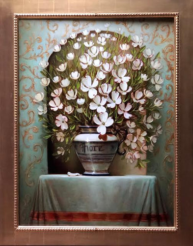 Fiore (Dogwood Blossoms) in Italian Vase  - Sean Farrell