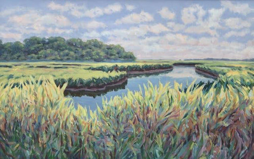 Clouds and Cattails - Cheryl Davis