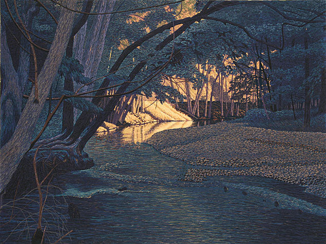 August in Big Sur by Gordon Mortensen - Limited Edition Landscape Reduction Woodblock Print