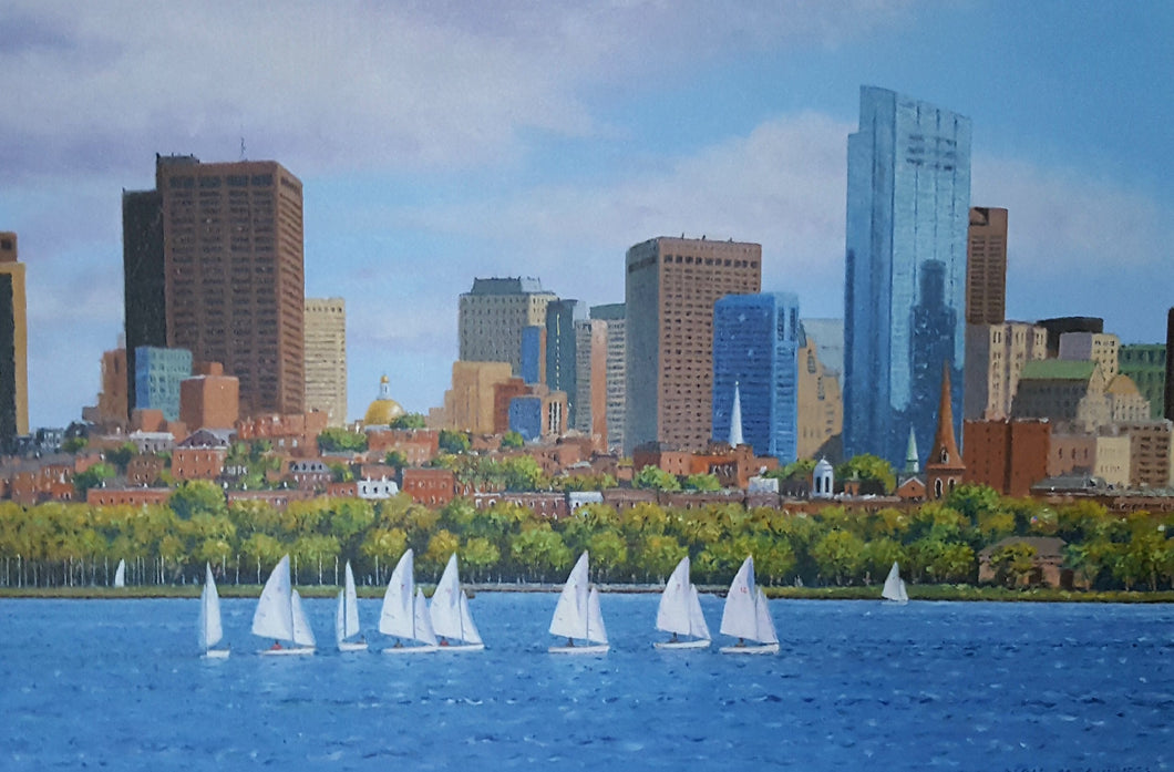 Summer In Boston Original Painting by Neil McAuliffe