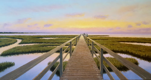 Board Walk oil on canvas by Neil McAuliffe