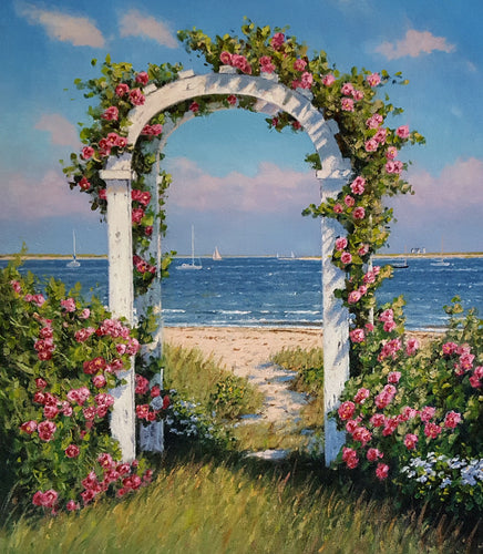 Seaside Arbor Oil on Canvas by Neil McAuliffe