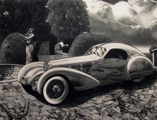 Bugatti Etching by David Bumbeck
