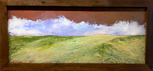 Copper Dunes -Original painting Oil on Copper by Artist Michael Marrinan
