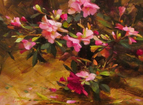 BLOOM  by Hagop Keledjian - Contemporary Impressionist Painting of Flowers