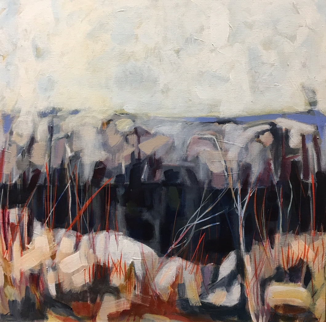 AUTUMN'S QUARRY by Jenifer Mumford - Abstract Painting