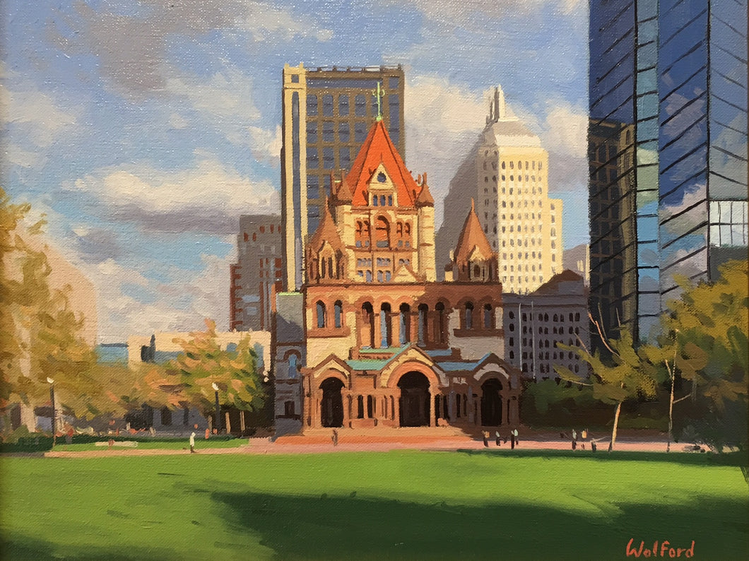 Copley By James Wolford - Contemporary Realist Painting of Copley Boston