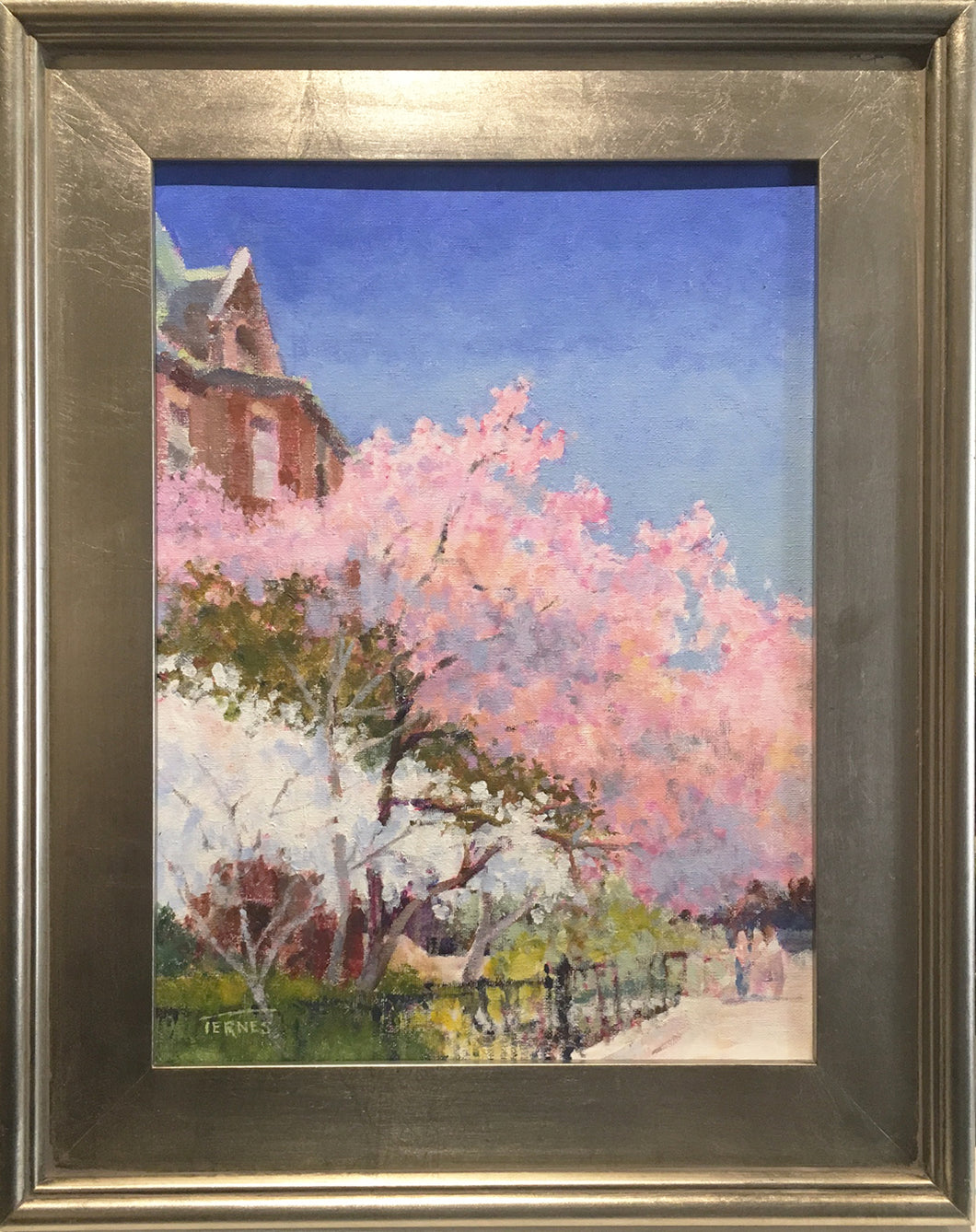 Spring Bloom, Commonwealth Ave. By William Ternes (1933 – 2014) - Painting of New England Scenary