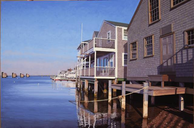 Easy Street Basin Nantucket original art by J Wolford