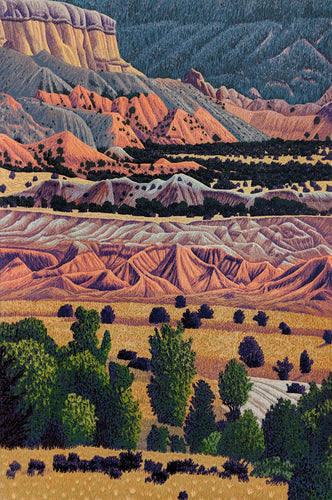 Ghost Ranch - Reduction Woodcut Print by Gordon Mortensen