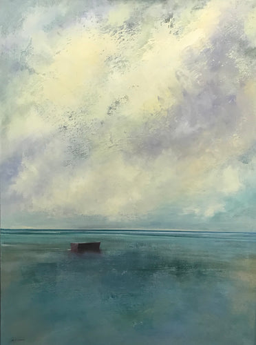 Passing Clouds by Michael Marrinan - Transitional coastal oil painting