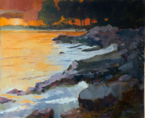 Maine Sunset - artist Wes Shaw