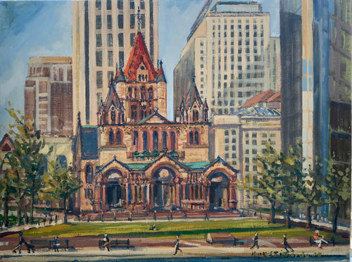 Copley II Water Color By artist Mark J Richards