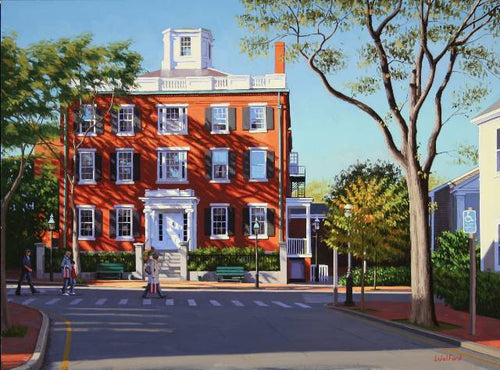 Jared Coffin House - Original Painting by James Wolford
