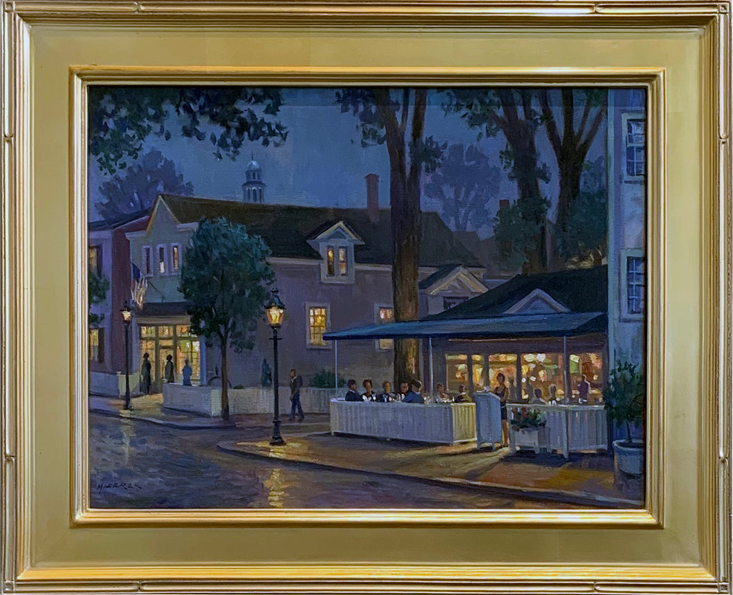 Night Lights on Federal by Fine Art - Artist Leonard Mizerek