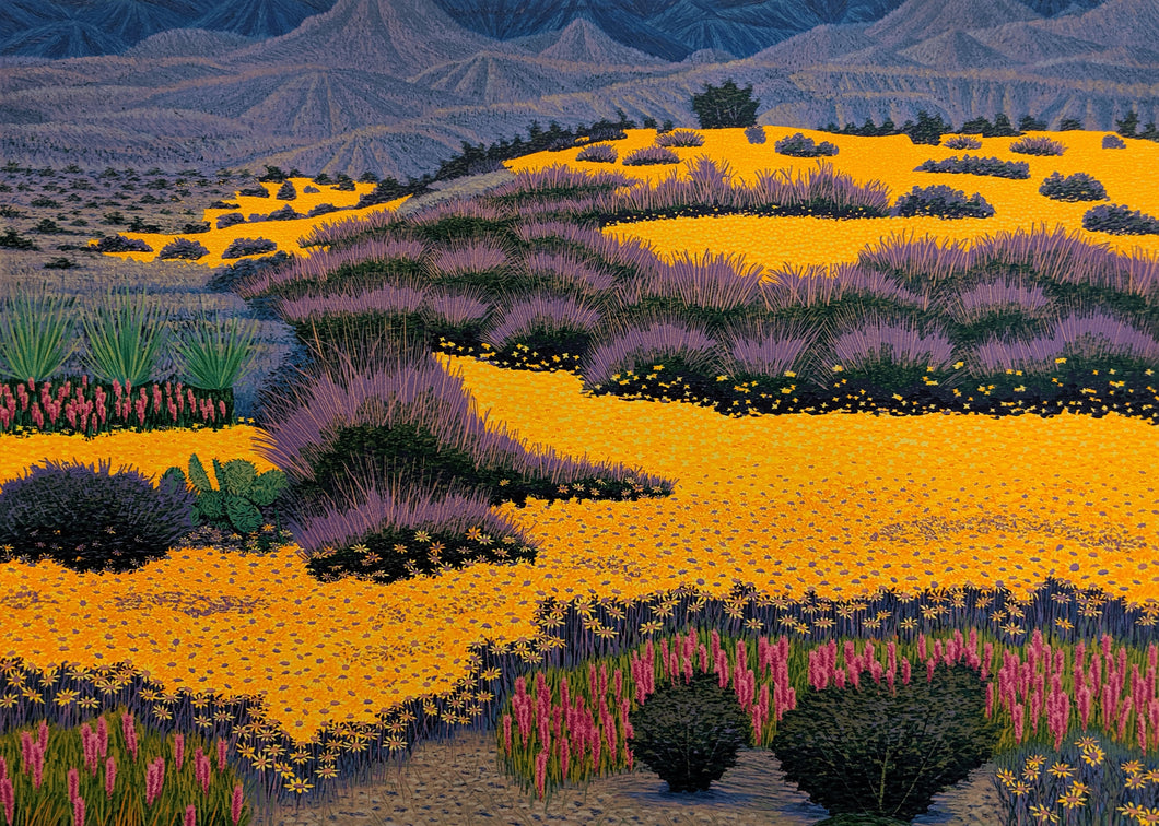 Desert Gold - Woodcut on Paper by artist Gordon Mortensen