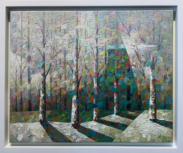 Early Spring - Original painting by  Man Wai Wu