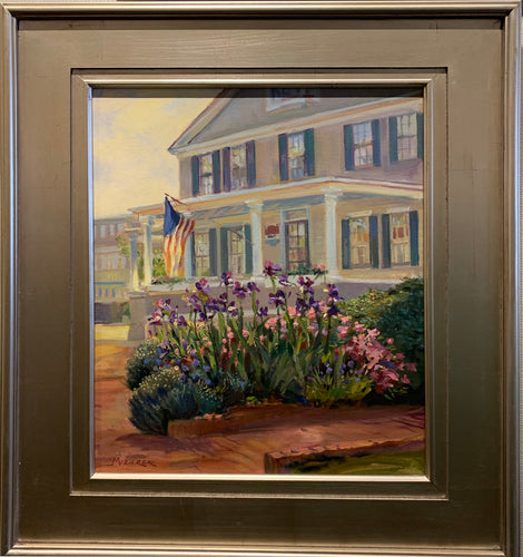 Edgartown Garden painting by Leonard Mizerek