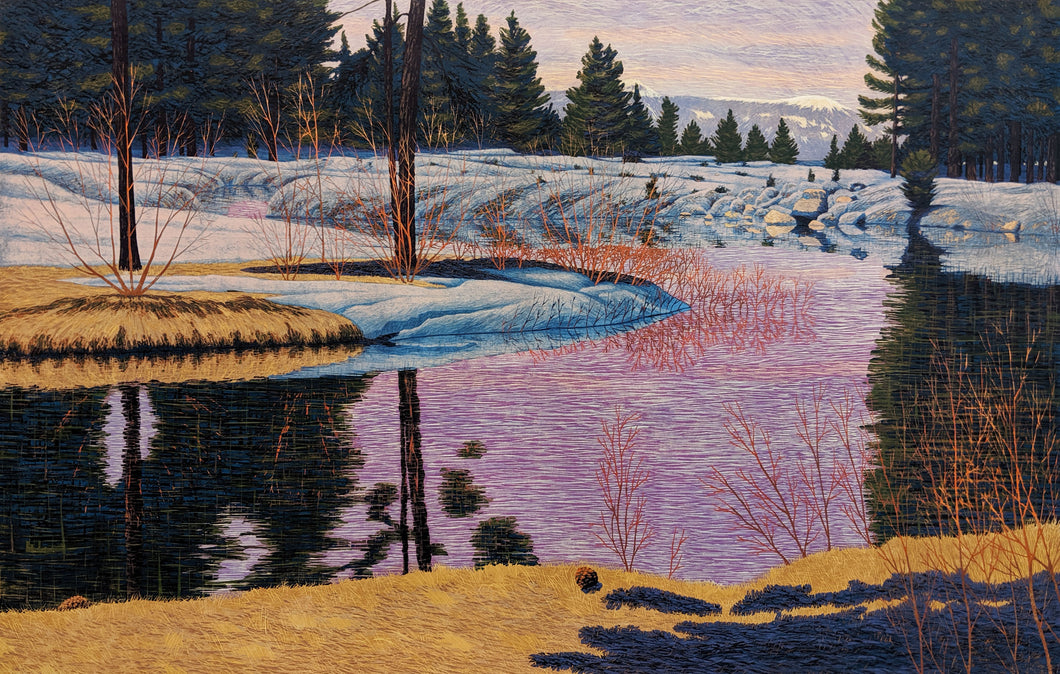 Evening in Tahoe - Fine Art Woodblock Print by Artist Gordon Mortensen