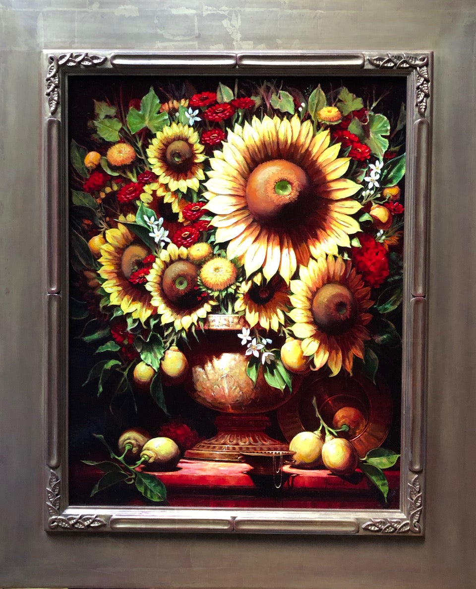 Rome Sunburst Oil on Linen by artist Sean Farrell